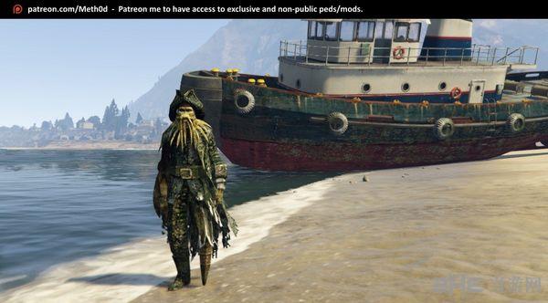 侠盗猎车手5加勒比海盗章鱼船长MOD截图1