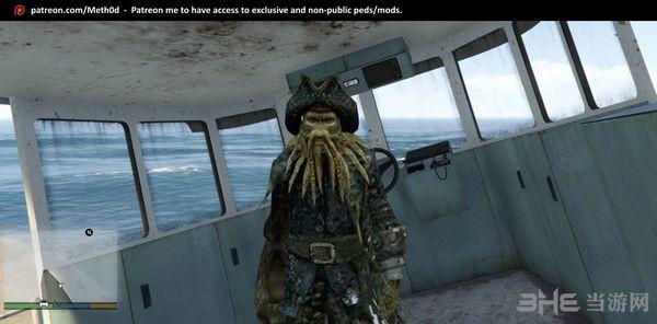 侠盗猎车手5加勒比海盗章鱼船长MOD截图3