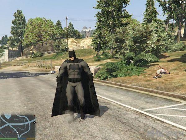 侠盗猎车手5超人大战蝙蝠侠MOD截图2