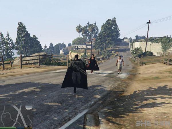 侠盗猎车手5超人大战蝙蝠侠MOD截图3