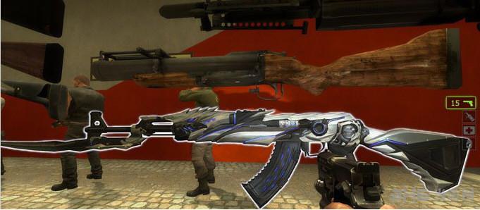 求生之路2白狼之眼AK47突击步枪MOD截图0