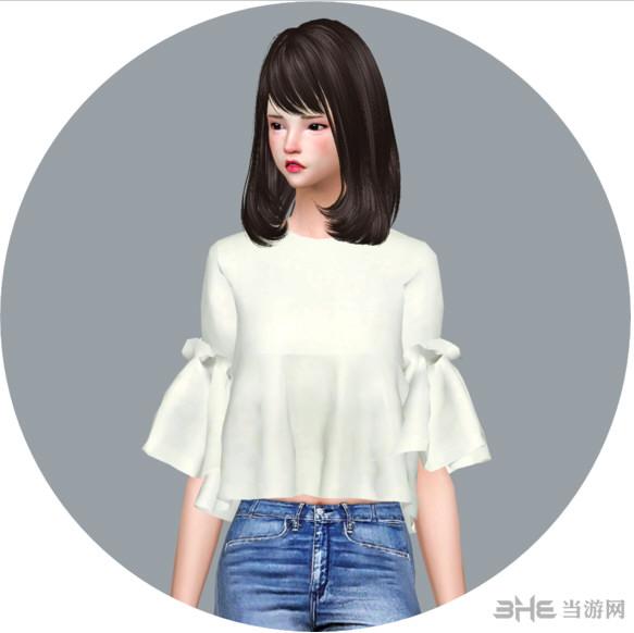 模拟人生4 13色洋装上衣MOD截图0