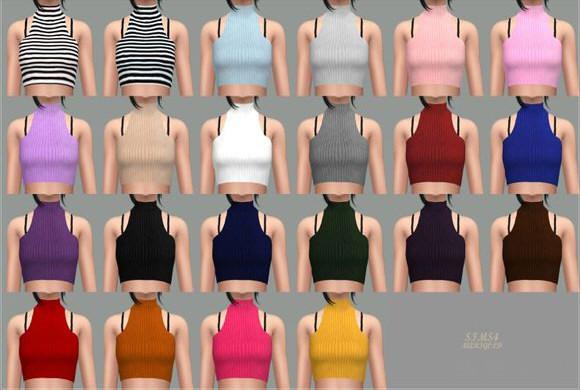 模拟人生4 22色洋装无袖上衣MOD截图1