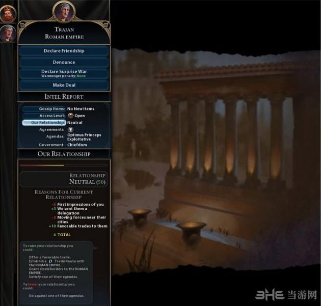 文明6v1.0.0.56显示外交关系总和MOD截图4