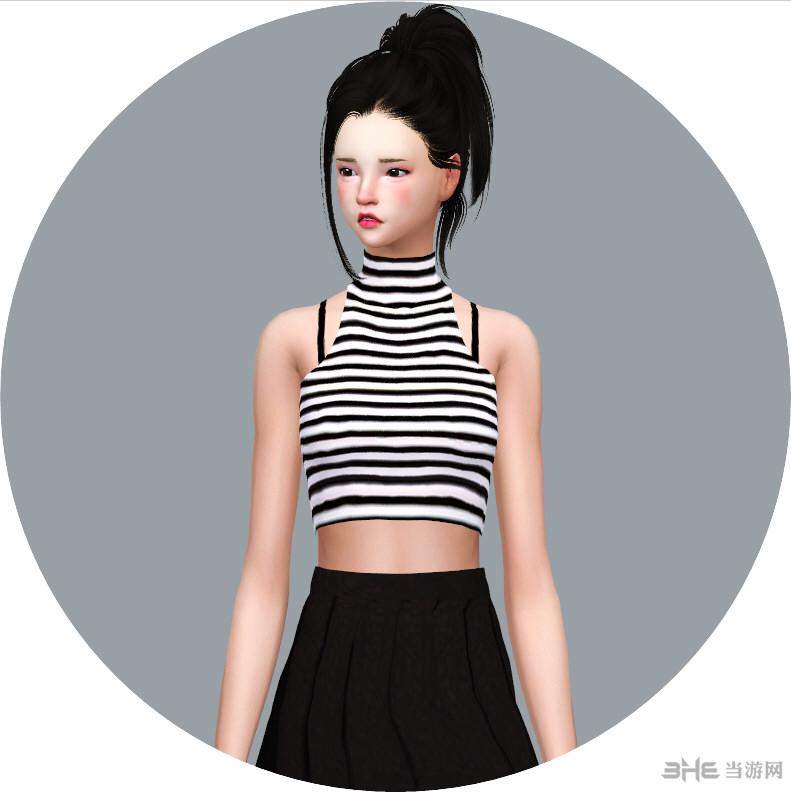 模拟人生4 22色洋装无袖上衣MOD截图0