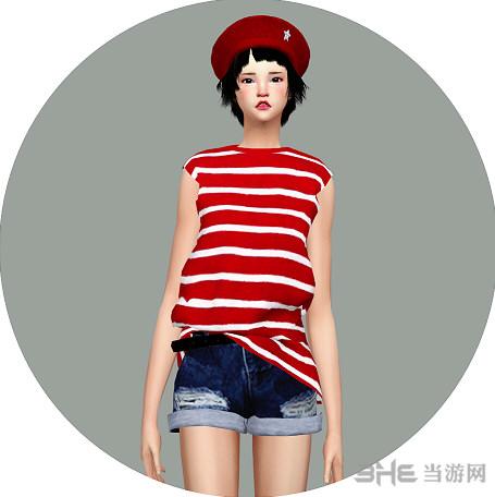 模拟人生4洋装无袖T恤MOD截图0