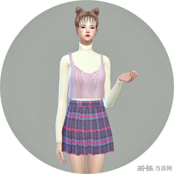 模拟人生4 28色背心毛衣连衣裙MOD截图0