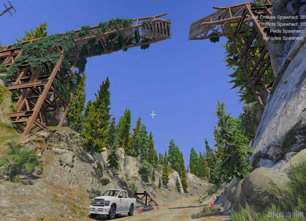 侠盗猎车5废弃的火车山道MOD截图0