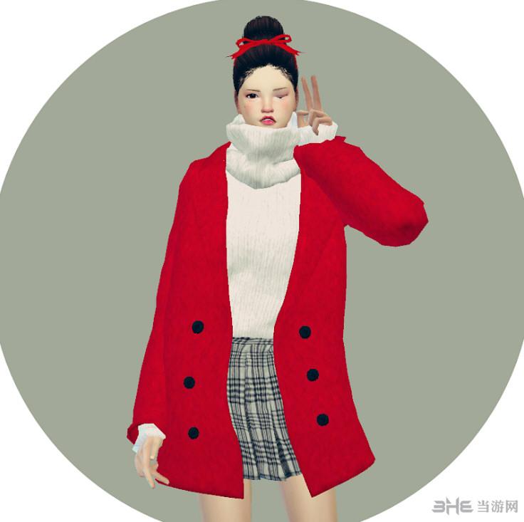 模拟人生4 66色保暖女式外套MOD截图0
