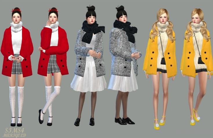 模拟人生4 66色保暖女式外套MOD截图1