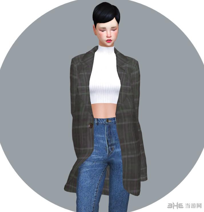 模拟人生4 10色女式风衣MOD截图0