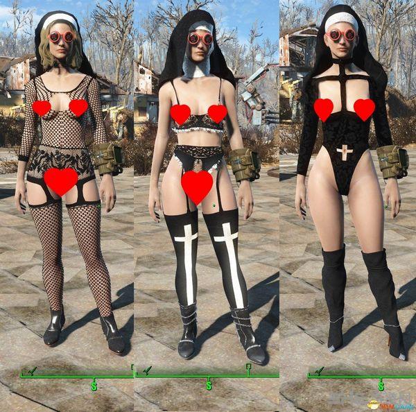 辐射4性感修女服装MOD截图1