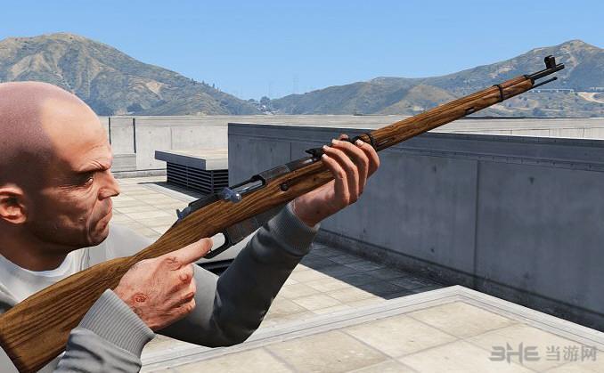 侠盗猎车5莫辛纳甘步枪武器MOD截图0