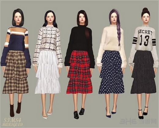 模拟人生4英式三重裙子MOD截图1