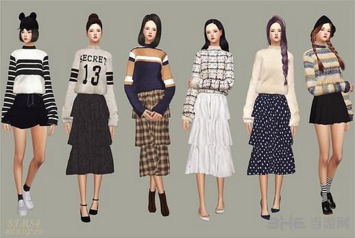 模拟人生4女式格子毛衣MOD截图0