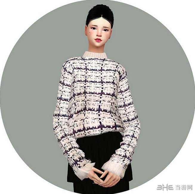 模拟人生4女式格子毛衣MOD截图1