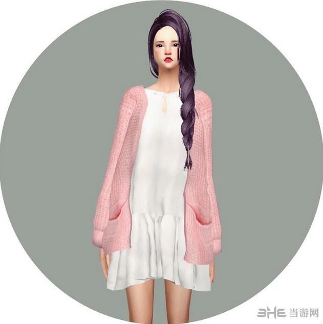 模拟人生4 26色洋装长款连衣裙MOD截图0