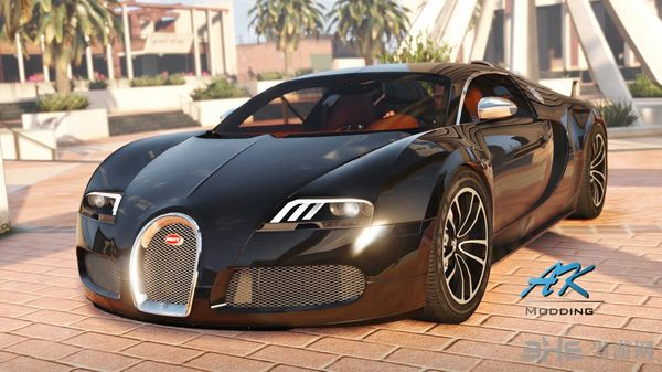 侠盗猎车手5布加迪Veyron Sang Noir MOD截图0