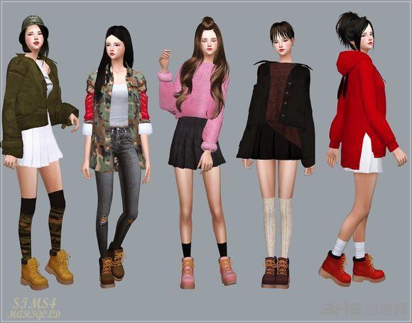 模拟人生4 24色洋装女鞋MOD截图2