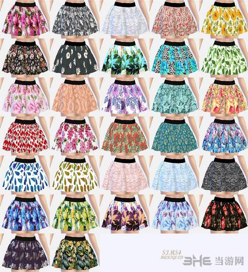 模拟人生4 32色女孩短裙MOD截图0