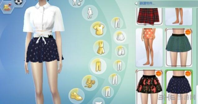模拟人生4 32色女孩短裙MOD截图1