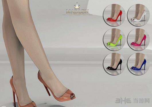 模拟人生4 7色鱼嘴绑腿高跟鞋MOD截图0