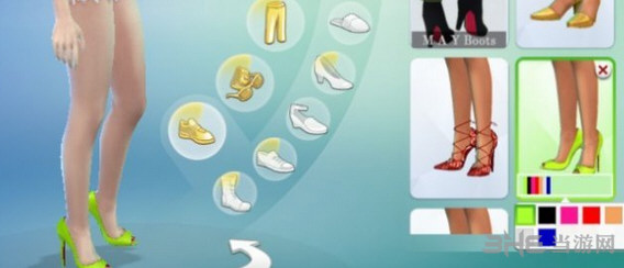 模拟人生4 7色鱼嘴绑腿高跟鞋MOD截图1