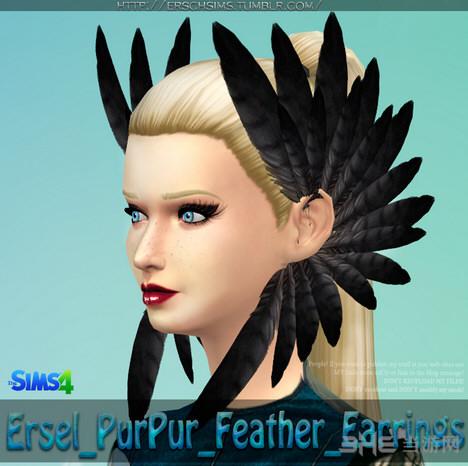 模拟人生4 7色羽毛耳环MOD截图0