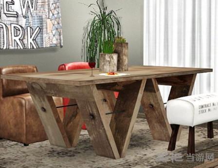 模拟人生4大气实木桌MOD截图0