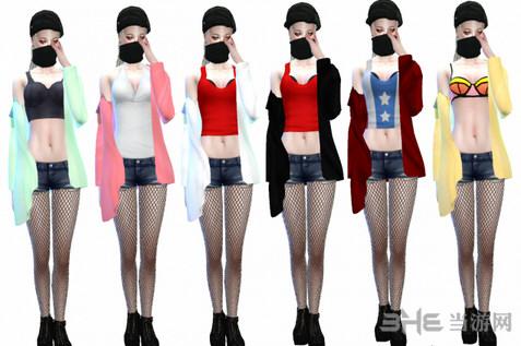 模拟人生4漂亮女装外套MOD截图5