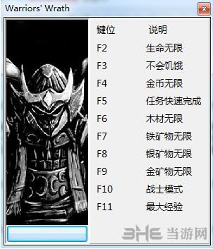 勇士之怒:邪恶挑战十项修改器截图0