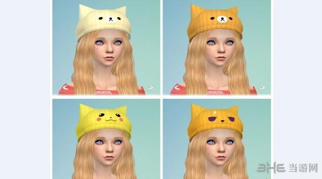 模拟人生4萌妹帽子(智乃的兔子)MOD截图1