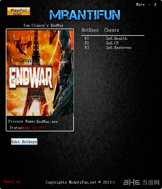 汤姆克兰西之终结战争三项修改器截图0