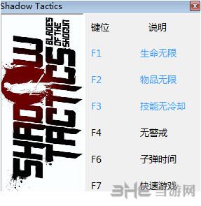 影子战术:将军之刃六项修改器peizhaochen版截图0