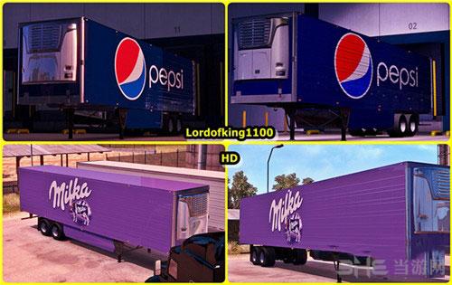 美国卡车模拟国际拖车皮肤包MOD截图0