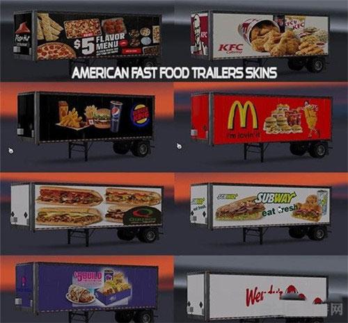 美国卡车模拟快餐车皮肤MOD截图0