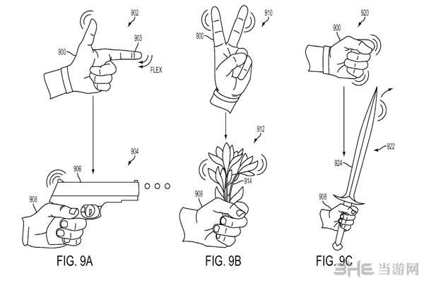 索尼VR手套专利图1