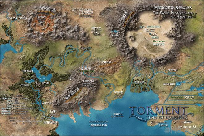 折磨扭蒙拉之潮中文地图1
