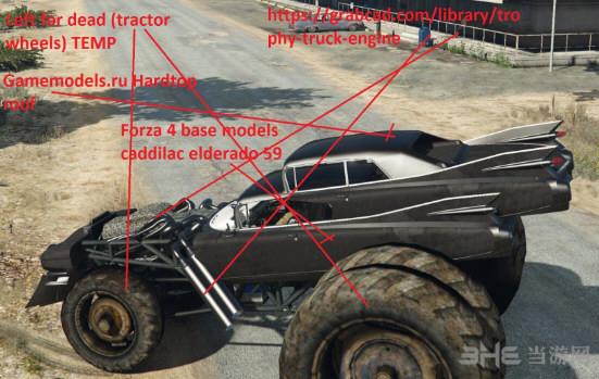 侠盗猎车手5疯狂麦克斯巨型Gigahorse车MOD截图1