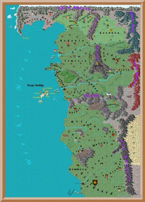 巫师系列世界地图1