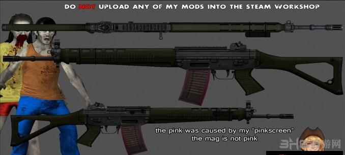 求生之路2 SG551突击步枪MOD截图0