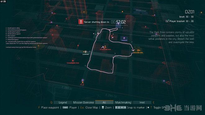 全境封锁暗区刷装备路线图
