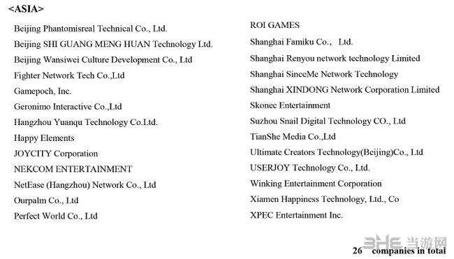 PSVR第一批全部开发商名单2