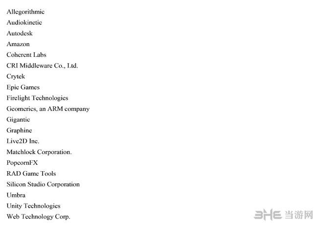 PSVR第一批全部开发商名单5