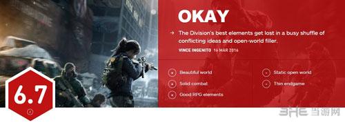 全境封锁IGN评分1