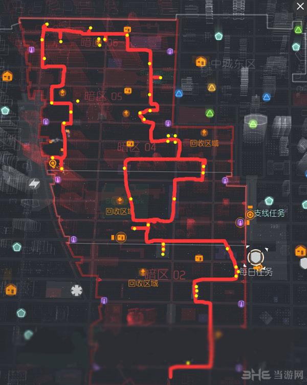 全境封锁刷特工材料路线图1