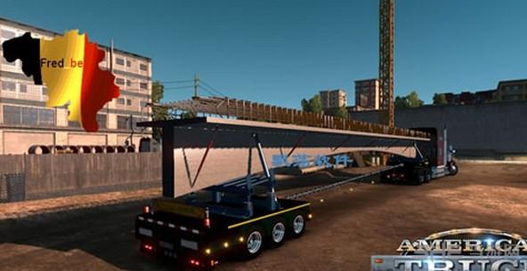 美国卡车模拟混凝土桥拖车MOD截图0