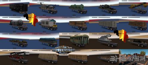 美国卡车模拟超重货物拖车包MOD截图0
