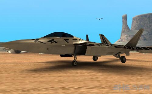 侠盗猎车手圣安地列斯F22战斗机MOD截图0