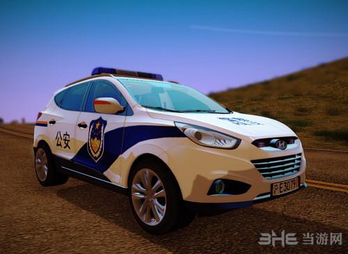 侠盗猎车手圣安地列斯现代IX35警车MOD截图0